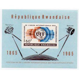 Rwanda- Bloc Feuillet- Centenaire de l
