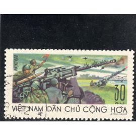 Timbre-poste du Viet-Nam du Nord (Défense contre les bombardements)