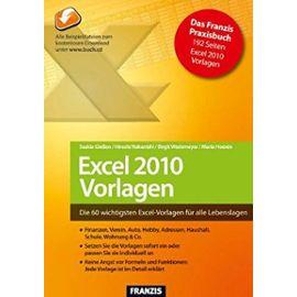 Excel 2010 Vorlagen - Wedemeyer, Birgit
