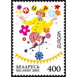 1 Timbre Neuf Europa Bielorussie 2002
