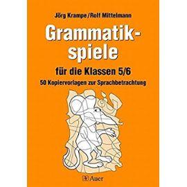 Krampe: Grammatikspiele Klassen 5/6