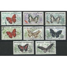 Centrafrique, série papillons oblitérées 1960
