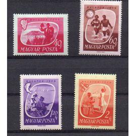 Hongrie- Lot de 4 timbres neufs- Tourisme- Lac Balaton