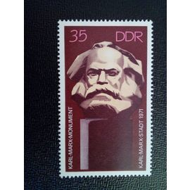 timbre ALLEMAGNE / RDA YT 1395 Inauguration du monument Karl Marx 1971 ( 071112 )