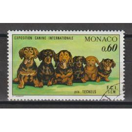 monaco, 1976, exposition canine internationale de monte-carlo, n°1051, oblitéré.