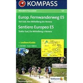 Europ. Fernwanderweg 121 E5 Süd kompass D/I - Kompass-Karten