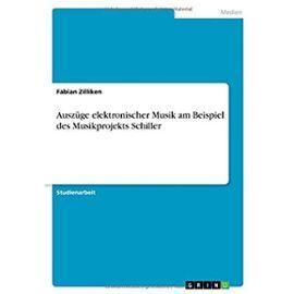 Auszüge elektronischer Musik am Beispiel des Musikprojekts Schiller - Fabian Zilliken