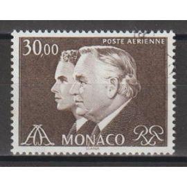 Monaco, 1984, Poste Aérienne, Série Courante (Princes Rainier & Albert), N°104, oblitéré.
