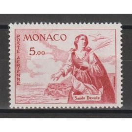 monaco, 1960-1961, poste aérienne, sainte dévote, n°77, neuf.