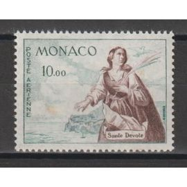 monaco, 1960-1961, poste aérienne, sainte dévote, n°78, neuf.