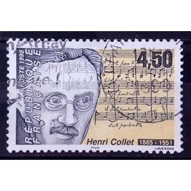 Compositeur Henri Collet 4,50 (Très Joli n° 3163) Obl - France Année 1998 - N27012