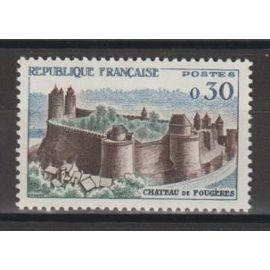 france, 1960, série touristique (château de fougères), n°1236, neuf.