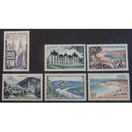 France neuf y et t N° 976 à 981 lot de 6 timbres de 1954 (série complète) cote 9.50