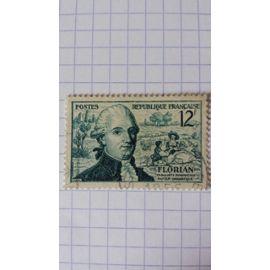 Lot n°571 ■ timbre oblitéré france n ° 1021 ---- 12f bleu-vert
