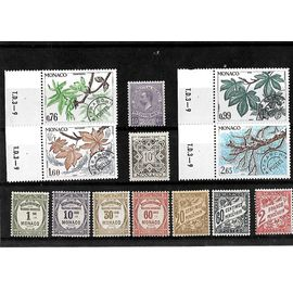 MONACO-LOT DE 13 TIMBRES PROBLITERES ET TAXES NEUFS**-PHOTO CONTRACTUELLE
