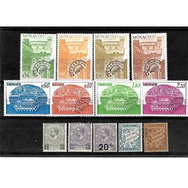 MONACO-LOT DE 13 TIMBRES PREOBLITERES ET TAXES NEUFS**-PHOTO CONTRACTUELLE