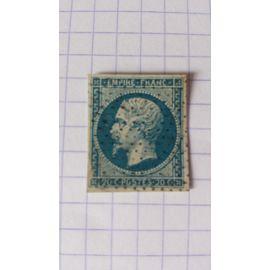 Lot n°589 ■ timbre oblitéré france classique n ° 14A ---- 20c bleu