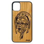 Coque Bois Iphone 11 Pro Silicone Femme Design Art Noir Et Blanc Dessin Mobile Case Azteque Souple Noir Animaux Fille Tribal Apple