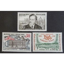 France neuf y et t N°1242 1243 1244 lot de 3 timbres de 1960 cote 2.30