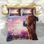 Zelda Parure De Couette De Marque 1 Housse De Couette Taies D Oreiller 3d Imprimée Zelda Thème Parure De Lit Pm300408