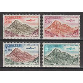 andorre français, 1961-1964, poste aérienne, n°5 à 8, neufs.