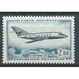 Poste aérienne 1965 Dassault Mystère 20 neuf** n° 42