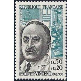 france 1962, très bel exemplaire yv. 1350, personnages célèbres : hyacinthe vincent, neuf*