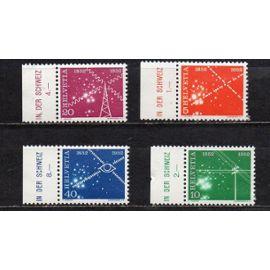 Suisse- Série de 4 timbres neufs- Télécommunications