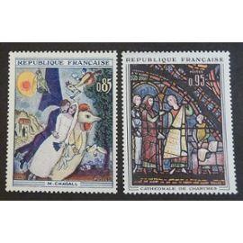 France neuf y et t N° 1398 1399 lot de 2 timbres de 1963 cote 3.00