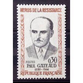 Résistants 1961 - Paul Gateaud 0,30 (Impeccable n° 1290) Neuf** Luxe (= Sans Trace de Charnière) - France Année 1961 - N25982