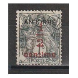 andorre français, 1931, type blanc, n°1, oblitéré.