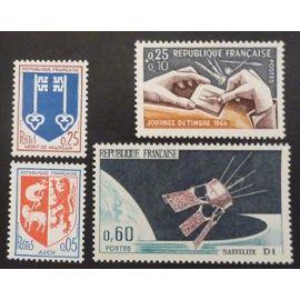 France neuf y et t N° 1468 1469 1476 1477 lot de 4 timbres de 1966 cote 1.85