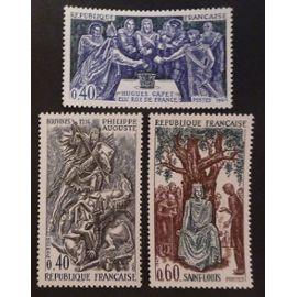 France neuf y et t N° 1537 à 1539 lot de 3 timbres de 1967 cote 1.65