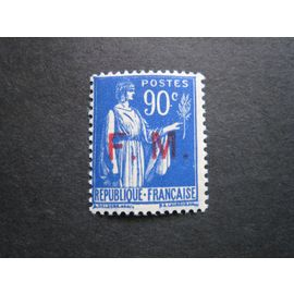 France neuf** - Franchise Militaire - 90 c Type Paix surcharge F M - 1929/1946