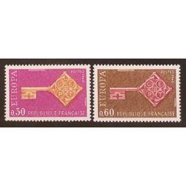 France neuf y et t N° 1556 1557 lot de 2 timbres de 1968 cote 1.75