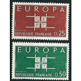 France 1963 - très belle paire europa - Yv 1396 - 1397 - neufs ** luxe