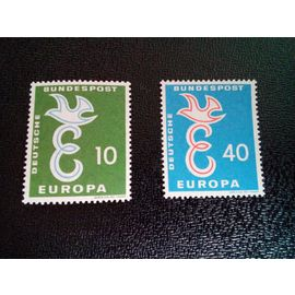 timbre ALLEMAGNE / RFA YT 164 - 165 Europa (C.E.P.T.) 1958 - Colombe 1958 ( 031212 )