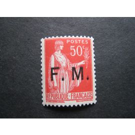 France neuf** - Franchise Militaire - 50c Type Paix rouge surcharge F. M. - 1929/1946