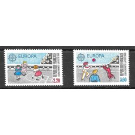 LOT 2 TIMBRES EUROPA NEUFS** 1989 N°Y 2584 2585.