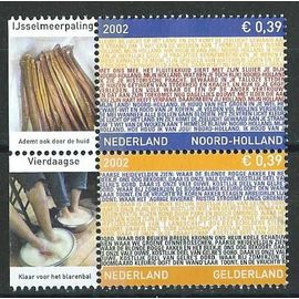 Nederland 2002 oblitérés province de Noord-Holland n° 1924 et province de Gelderland n° 1925