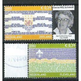 Nederland 2002 oblitérés province de Zeeland n° 1951 et province de Flevoland n° 1952