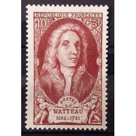 Célébrités 1949 - XVIIIème Siècle - Watteau 10f+3f Brun-Rouge (Impeccable n° 855) Neuf** Luxe (= Sans Trace de Charnière) - Cote 4,60€ - France Année 1949 - N27598