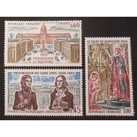 France neuf y et t N° 1774 à 1776 lot de 3 timbres de 1973 (série complète) cote 2.10