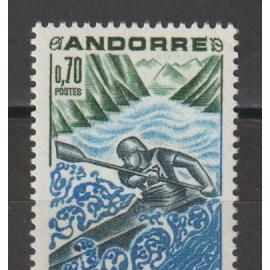 andorre français, 1969, sport, n°196, neuf.