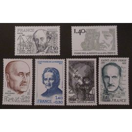 France neuf y et t N° 2095 à 2100 lot de 6 timbres de 1980 (série complète) cote 6.60