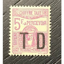 Timbre taxe neuf luxe** Tunisie 1944