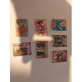 1973 Monaco poste aeriene + sainte therese de lisieus + 2 timbres sur drogue