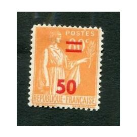 Timbre France 1941 Neuf ** YT N° 481 Type PAIX 50c