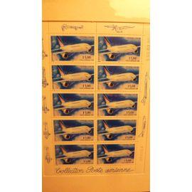 timbre poste aérienne en feuillet 10 tp 1999 Airbus A300 B4 15,00 F