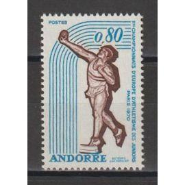 andorre français, 1970, sport (athlétisme), n°205, neuf.